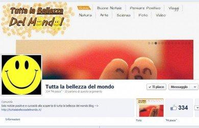 La pagina Fan e il gruppo di Tutta la Bellezza del mondo su Facebook!